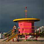 Pink Lifeguard Stand