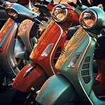 Vespas in the Sun
