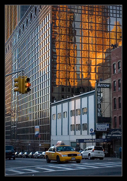 Yellow Building, Yellow Cab, Yellow Light